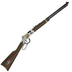 "Henry Coal Miner Tribute Edition II Lever Action Rifle .22 LR 20"" Barrel 16 Rounds Wood Stock Silver Receiver Blue H004CM2"