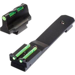 HiViz LITEWAVE Henry Rifle Fiber Optic Sight Set Red/Green/White Adjustable Rear Sight Steel Black