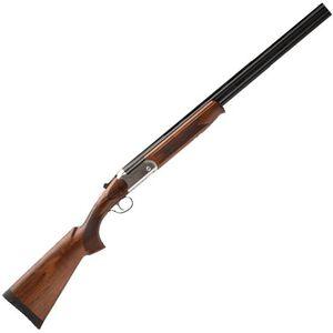 """Savage Stevens Model 555 Enhanced Over/Under Shotgun 28 Gauge 26"""" Barrels 2 Rounds Silver Receiver Imperial Walnut Stock"""