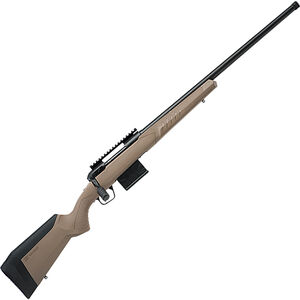 """Savage 110 Tactical Desert .300 Win Mag Bolt Action Rifle 24"""" Heavy Threaded Barrel 5 Rounds FDE Synthetic Adjustable AccuFit AccuStock Black Finish"""