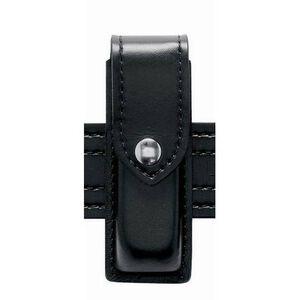 """Safariland Model 76 Single Handgun Magazine Pouch Colt 1911 2.25"""" Duty Belt Chrome Snap Vertical Carry Basket Weave Black 76-53-4"""