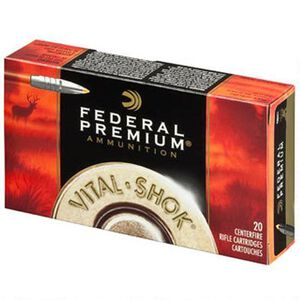 Federal Premium Vital-Shok 7mm WSM Ammunition 20 Rounds 140 Trophy Bonded Tip Bullet 3200fps