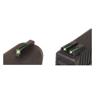 TRUGLO GLOCK TFO Tritium & Fiber Optic Sight Set Green