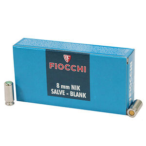 Fiocchi Specialty Blanks 8mm Pistol Ammunition 50 Rounds Shooting Dynamics Pistol/Revolver Blanks