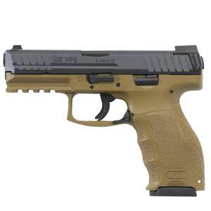 "H&K VP FDE Semi Auto Pistol 9mm Luger 4.09"" Barrel 15 Rounds Polymer Frame Flat Dark Earth"