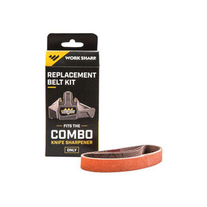 "Work Sharp Replacement Belt Kit for Combo Knife Sharpener 3 per package P120 belt .5"" by 10"""