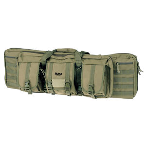 """American Tactical Imports RUKX Gear 36"""" Tactical Double Gun Case 600D Polyester Green"""