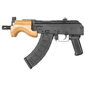 "Century Arms Micro Draco Pistol Semi Automatic Handgun 7.62x39mm 6.25"" Barrel Black 30 Rounds Wood Fore Grip Natural Matte Black Finish"