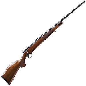 """Weatherby Vanguard Deluxe Bolt Action Rifle .257 Wby Mag 26"""" Barrel 3 Rounds Gloss Monte Carlo Walnut Stock Rosewood Forend Cap Gloss Blued Finish"""
