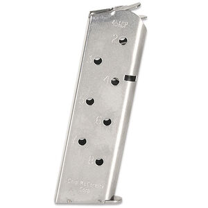 Chip McCormick Match Grade 1911 Full Size Magazine .45 ACP 8 Rounds Stainless Steel