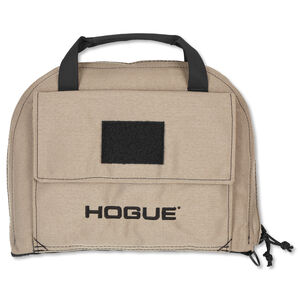 Hogue Gear Medium Pistol Bag Front Pocket With Handles Nylon FDE 59253