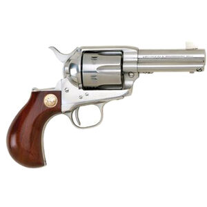 "Cimarron Thunderer Single Action Revolver .357 Magnum 3.5"" Stainless Barrel 6 Rounds Birdshead Walnut Grips Fixed Sights Stainless CA4508"
