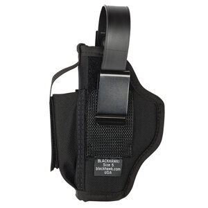 BLACKHAWK! Multi-Use Belt Holster With Magazine Pouch Ambidextrous Nylon Black 40AM03BK