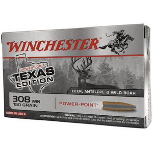 Winchester Super X .308 Winchester Ammunition 200 Rounds Texas Edition Power Point 150 Grains