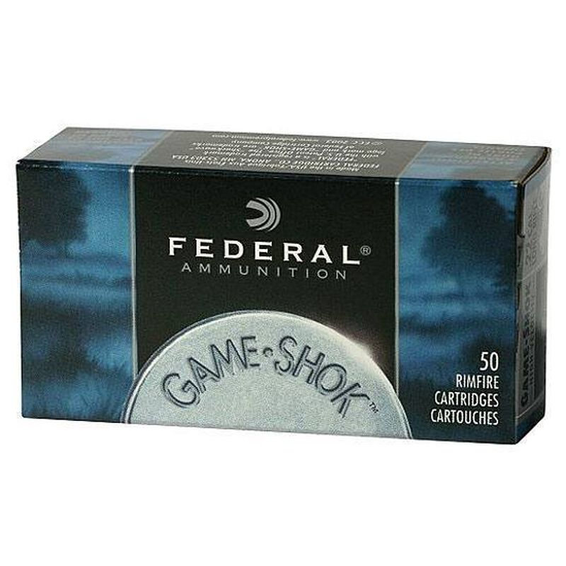 Federal Game Shok .22LR Ammunition 38 Grain Copper Plated Hollow Point 1260 fps