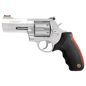 "Taurus Raging Bull 444 Multi 44 Mag Double Action Revolver 4"" Barrel 6 Rounds Fiber Optic Sight Matte Natural Anodized Finish"