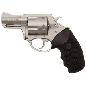 "Charter Arms Pit Bull Revolver .40 S&W 2.3"" Barrel 5 Rounds Rubber Grips Stainless Finish"