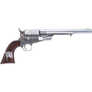 "Cimarron 1860 Richards Transition Model Type II .45 LC SA Revolver Pistol 8"" Barrel 6 Rounds Walnut Grip with Old Glory Medallion Case Hardened/Original Finish"