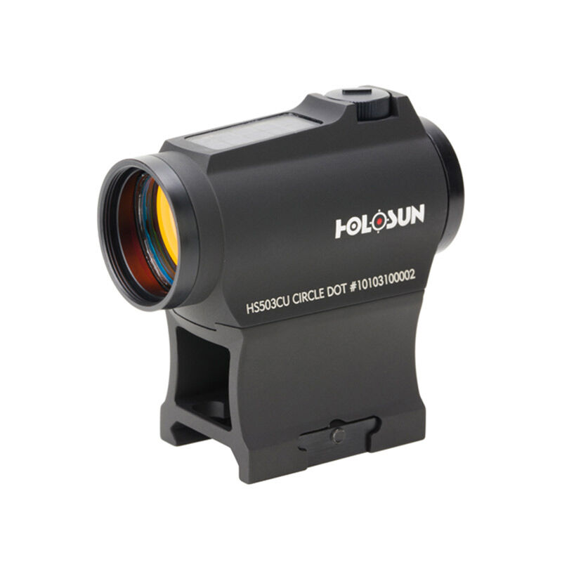 Holosun Micro Red Dot Sight 2 MOA with 65 MOA Circle Solar / Battery Black HS503CU