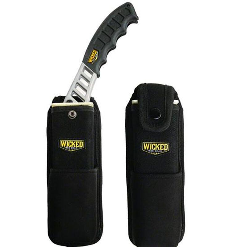 Wicked Tree Pack Heavy Duty Canvas Plastic Scabbard Neoprene Pocket Black WTG004