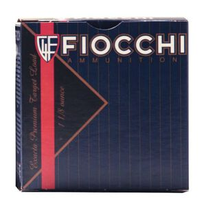 "Fiocchi Exacta Target Line Crusher 12 Gauge Ammunition 25 Rounds 2-3/4"" #8 Shot 1oz Lead 1300fps"