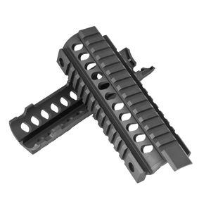 Mission First Tactical AR-15 Tekko Two Piece Drop In Quad Rail Handguard Aluminum Black TMARCIRS