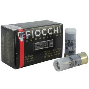 """Fiocchi 12 Gauge Ammunition 10 Rounds 2 3/4"""" Rifled Slug 7/8 oz 12LESLUG"""