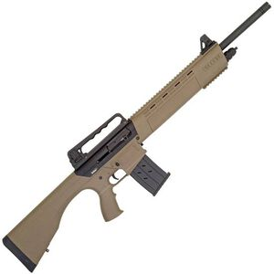 """Tristar KRX Tactical Semi Auto Shotgun 12 Gauge 20"""" Barrel 5 Rounds Carry Handle Rear Sight with FO Front Sight Fixed Polymer Stock FDE"""