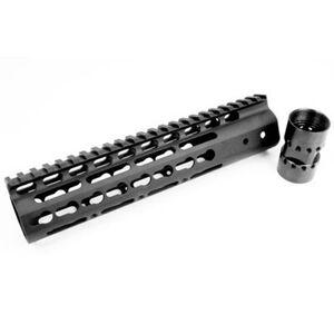 "Noveske AR-15 NSR Free Float KeyMod Rail 9"" Continuous Picatinny Top Rail Aluminum Matte Black"