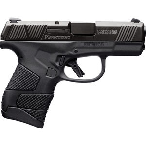 "Mossberg MC1sc 9mm Luger Subcompact Semi Auto Pistol 3.4"" Barrel 7 Rounds 3-Dot Sights With Manual Safety Polymer Frame Black"