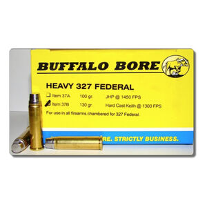 Buffalo Bore .327 Federal Ammunition 20 Rounds HC Keith SWC 130 Grains 37B/20