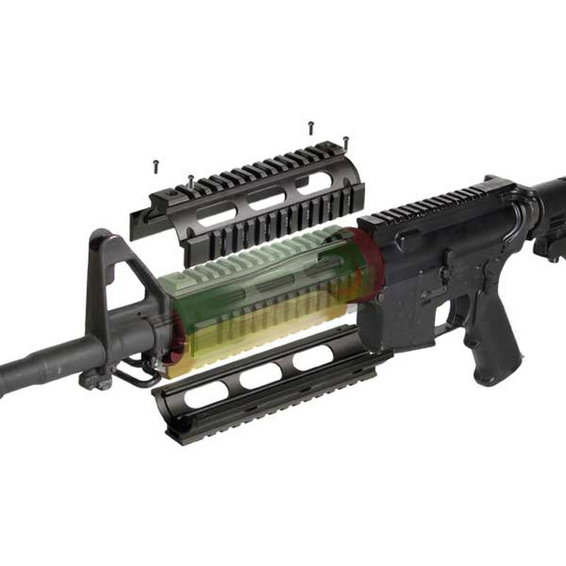 Leapers UTG PRO AR-15 Carbine Length Drop In Quad Rail Hand Guard Aluminum Anodized Matte Black