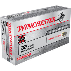 Winchester Super X .32 Auto Ammunition 50 Rounds SHP 60 Grain 970 FPS