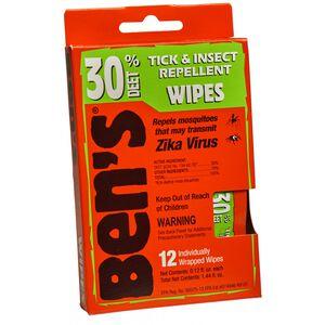 Ben's 30% DEET Tick & Insect Repellent Wipes 12 Pack
