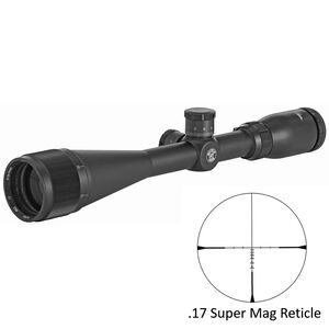 "BSA Optics .17 SUPER MAG 6-24x44 Riflescope 17 SM Reticle 1"" Tube 1/8 MOA Adjustments Variable Parallax Second Focal Plane Matte Black"