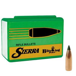 "Sierra .25 Caliber .257"" Diameter 90 Grain BlitzKing Polymer Tip Boat Tail Moly Coated Bullets 500 Count 1616M"