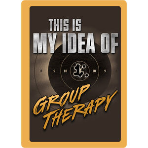 """River's Edge Products """"Group Therapy"""" Tin Sign 12 Inches by 17 Inches 1462"""
