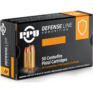 Prvi Partizan PPU Defense .32 ACP Ammunition 50 Rounds 71 Grain JHP 967fps