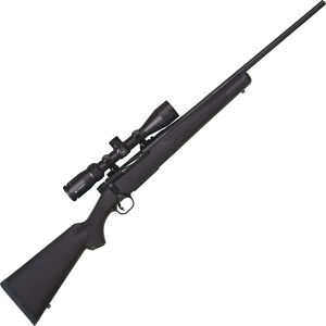 """Mossberg Patriot Synthetic Combo 7mm-08 Rem Bolt Action Rifle 22"""" Fluted Barrel 5 Rounds with Vortex Crossfire II 3-9x40mm Scope Black Synthetic Stock Matte Blued Finish"""