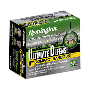 Remington .40 Smith & Wesson Ammunition 20 Rounds, BJHP, 180 Grains