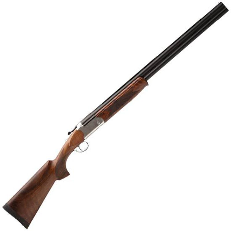 "Savage Stevens Model 555 Enhanced Over/Under Shotgun 12 Gauge 28"" Barrels 2 Rounds 3"" Chamber Silver Receiver Imperial Walnut Stock"