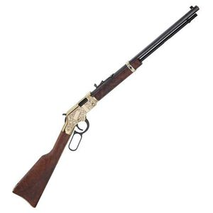 """Henry Big Boy Deluxe 3rd Edition Lever Action Rifle .357 Mag 20"""" Barrel 10 Rounds Brass Engraved Receiver Walnut Stock Limited Edition Blued H006MD3"""