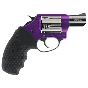 """Charter Arms Chic Lady Double Action Revolver .38 Special 2"""" Barrel 5 Rounds Fixed Sights Rubber Grip Ultra Lightweight Aircraft Grade Aluminum/Steel Construction Magenta Finish"""