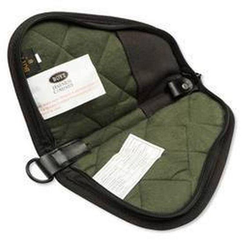 "Boyt Harness Company Heart Shaped Handgun Case With Pockets 8"" Canvas Black 0PP400003"