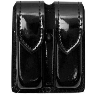 Safariland Model 77 Double Handgun Magazine Pouch SIG Sauer P250DC High Gloss Finish Hidden Snap Closure Black 77-283-9HS