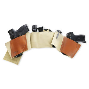 Galco Underwraps 2.0 Belly Band Holster for Most Firearms Ambi Leather Khaki