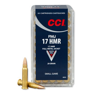 CCI .17 HMR Ammunition FMJ 20 Grains 2375 fps
