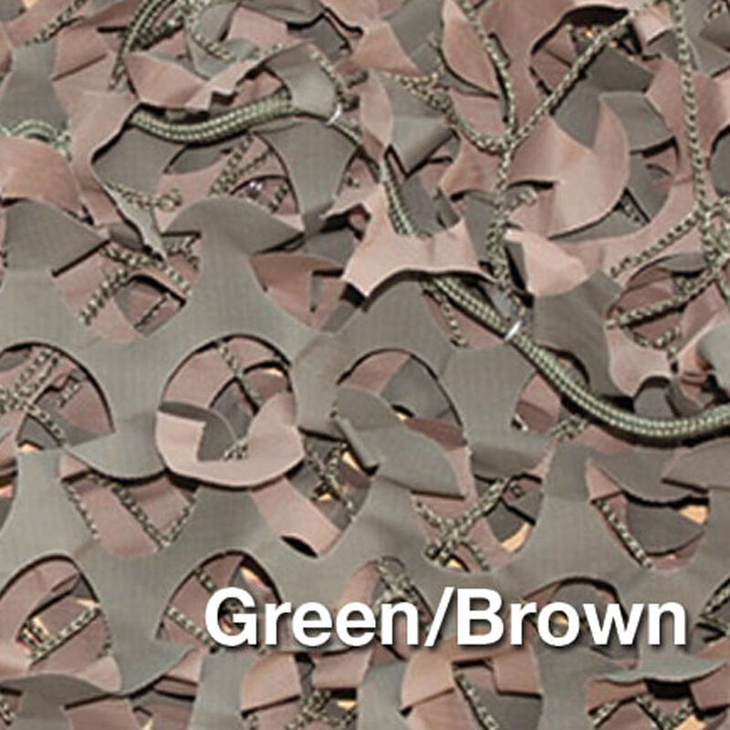 """Camo Unlimited Premium Series Military 9'10""""x9'10"""" 3D Leaf Like Foliage Reversible Green and Brown Color"""