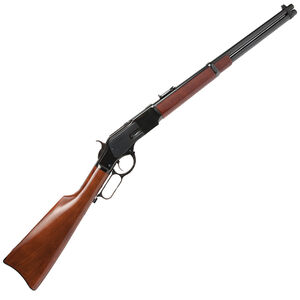 "Cimarron 1873 Carbine .45 Colt Lever Action Rifle 19"" Round Barrel 10 Rounds Steel Frame with Saddle Ring Walnut Stock/Forearm Blued Finish"
