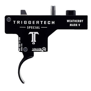 TriggerTech Weatherby Mark V Special Adjustable Single-Stage Drop-In Curved Trigger 1.0 lb to 3.5 lbs Black PVD Finish